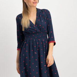 Blutsgeschwister Dress Navy Vintage Occasionwear