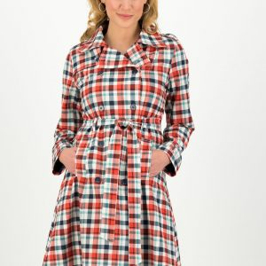 Raincoat Trench Coat Check Vintage Boutique