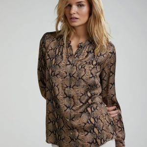 Oui Snake Print Ladies Blouse Top Boutique Tralee
