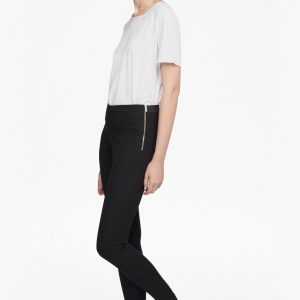 French Connection skinny twill black trousers
