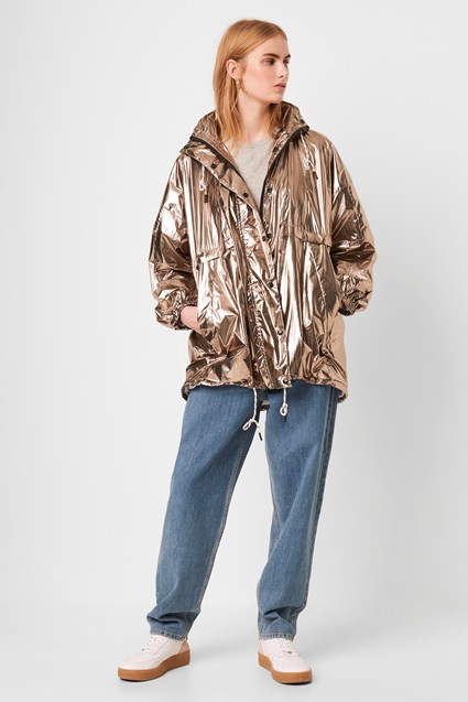 French Connection Clara Windbreaker Foil Jacket