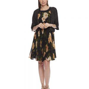 Black Gold Lurex Dressy Cardigan Knit