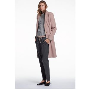 Oui classic wool cashmere coat