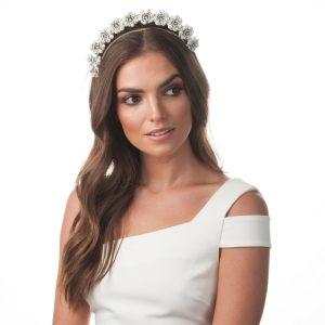 Olga Berg Amara Enamel White Headband
