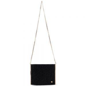 Olga berg black clutch bag occasion wear