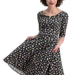 Vintage swing print dress