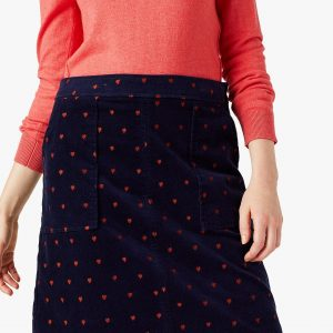 white stuff navy cord skirt