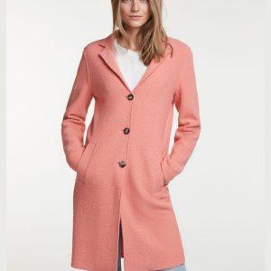 oui crabapple boiled wool coat