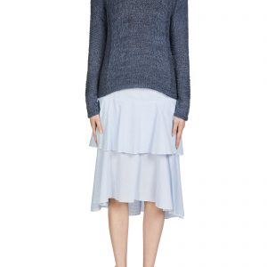 oui stripe cotton skirt