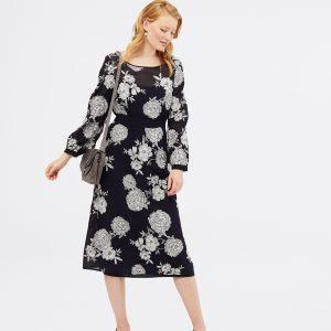 whitestuff navy midi dress