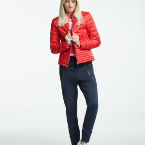 Oui red quilted jacket