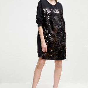 French Connection Sparkly Black Dress