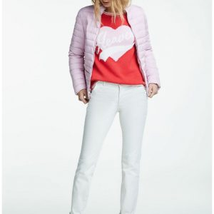 Oui pink quilted jacket