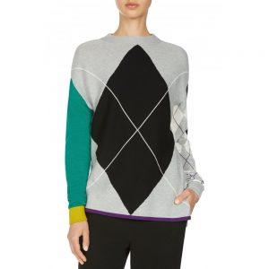 Oui Golf Sweater Knit Top