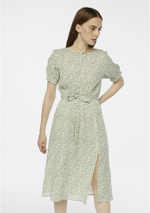 polka dot green midi dress occasion wedding Tralee