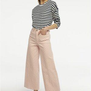 pink polka dot trousers
