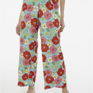 floral wide trousers effigy