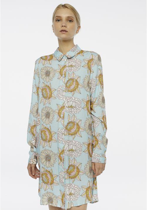 shirt dress blue Effigy Boutique Tralee
