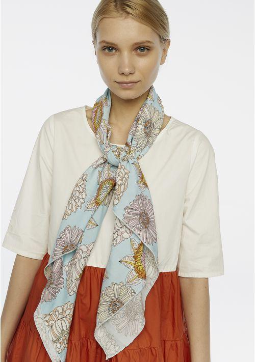 blue scarf accessories