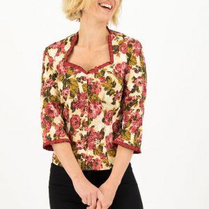 Vintage-inspired web blouse