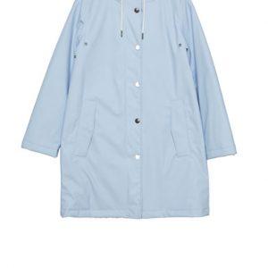 blue rain coat jacket