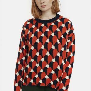 knit jumper print heat top
