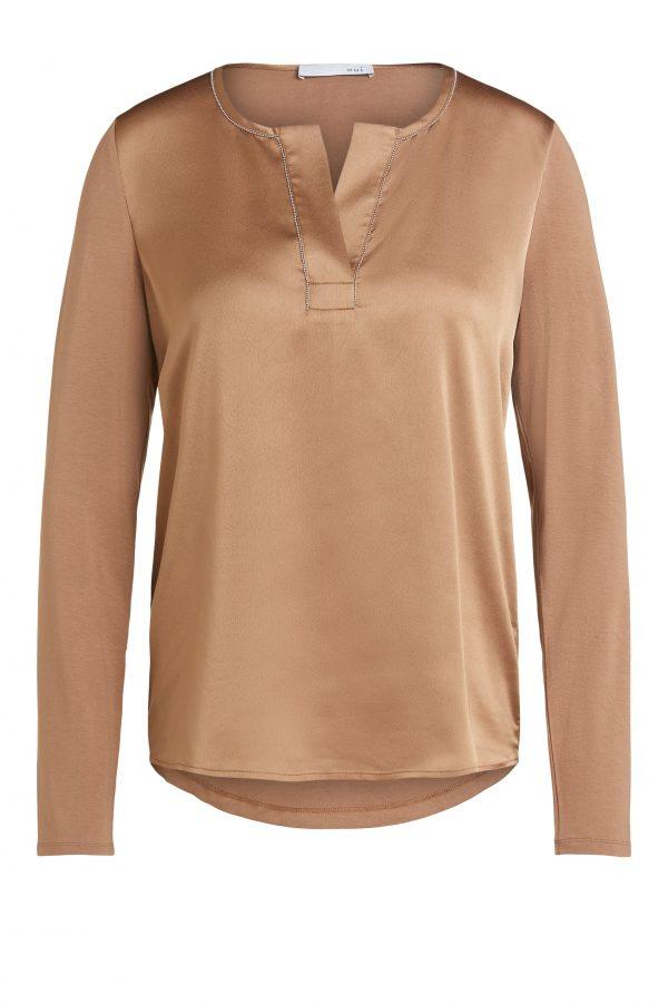oui top blouse camel Effigy