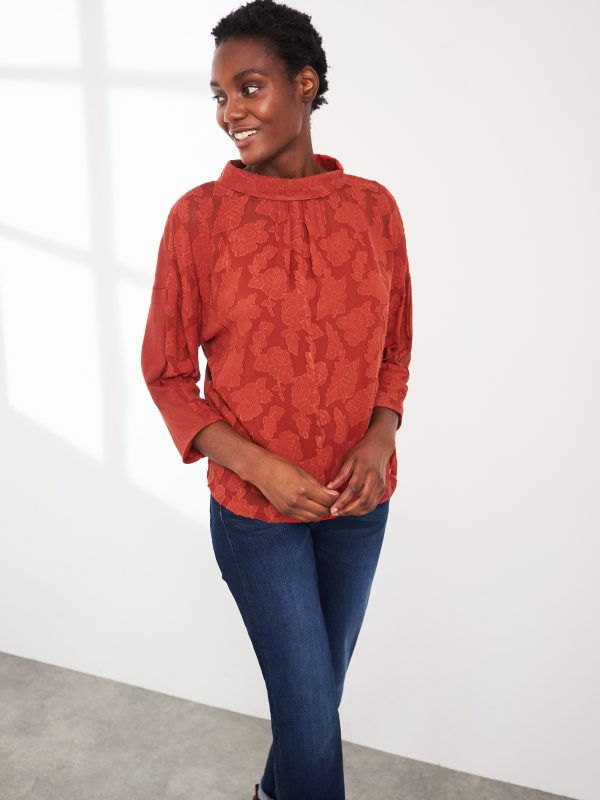 white stuff red top blouse dress Effigy