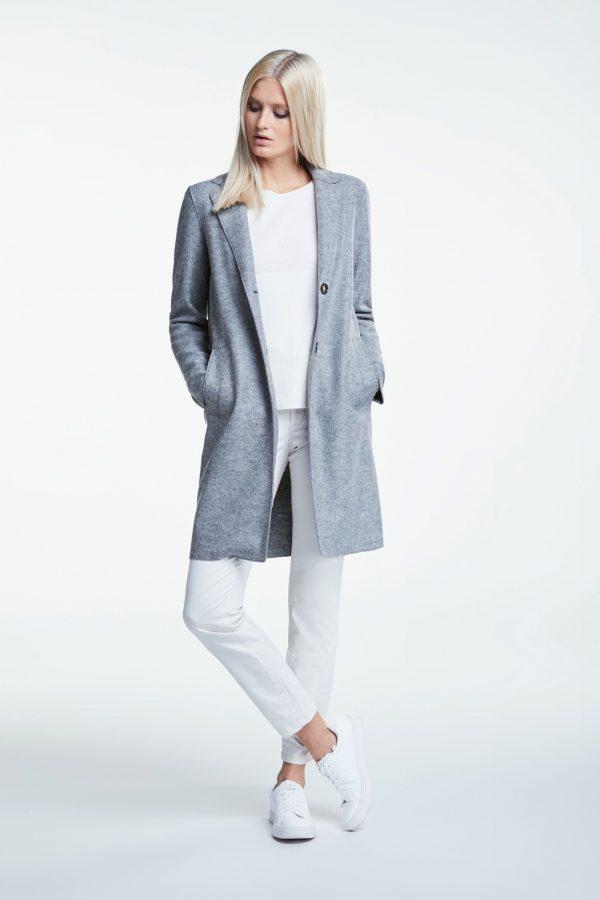oui egg shaped coat grey
