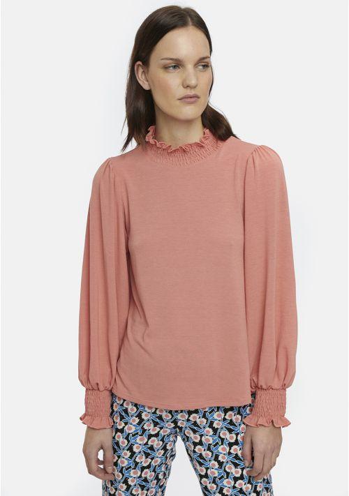 pink top dress casual