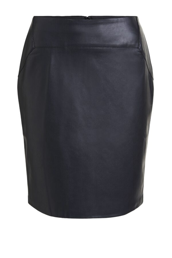 oui faux leather skirt