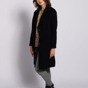 oui black wool coat