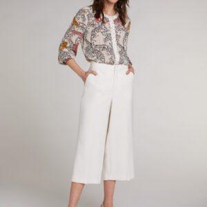 oui trousers white