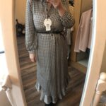oui houndstooth midi dress