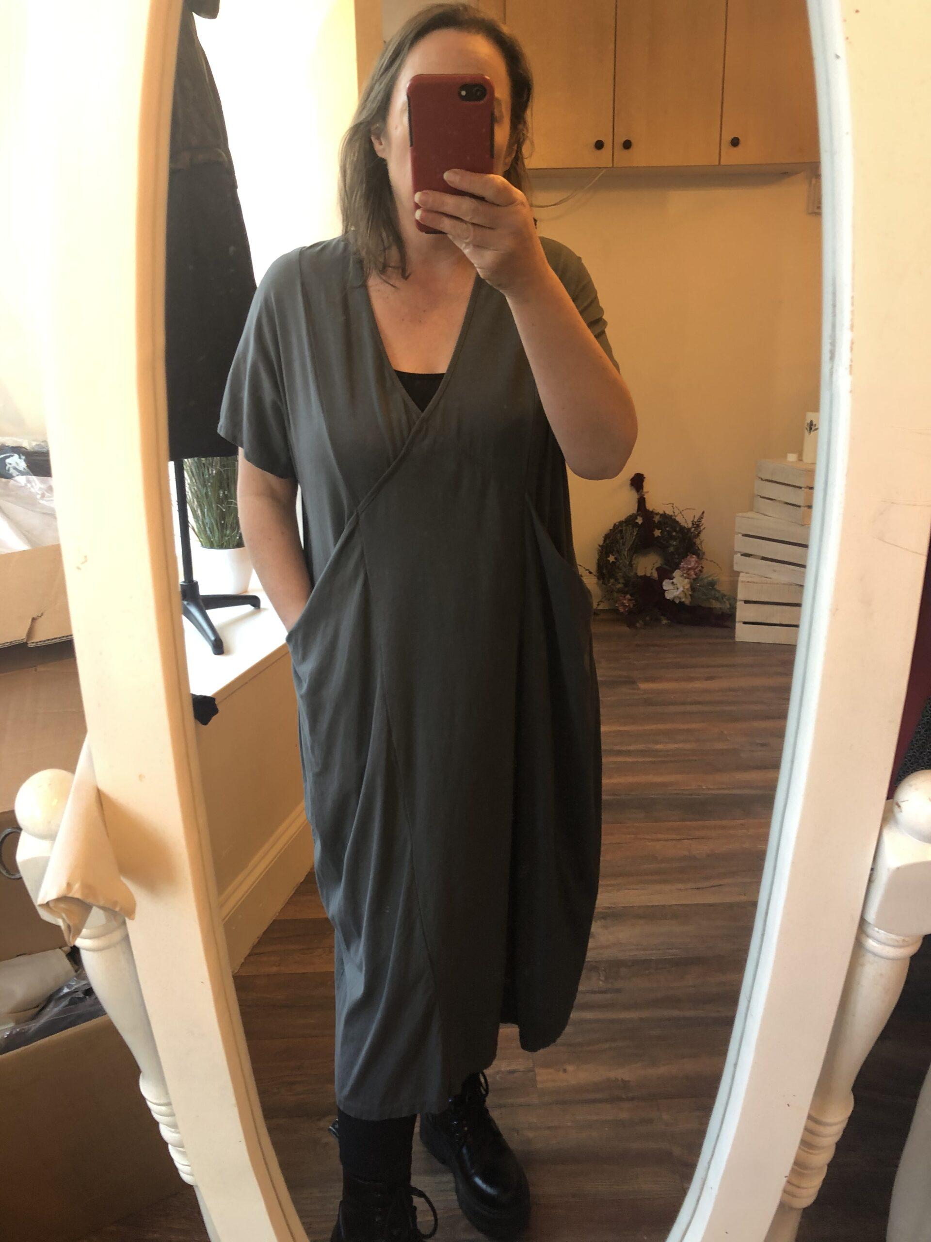 elie grey tunic dress
