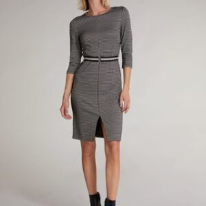 oui houndstooth dress