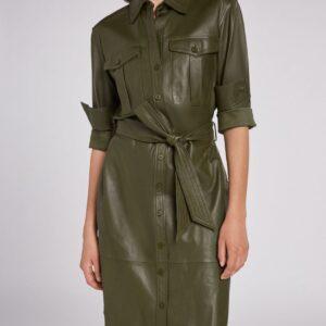 oui leather dress