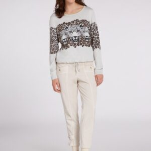 oui leopard print jumper