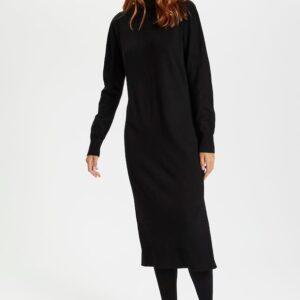 Saint Tropez black polo dress knit